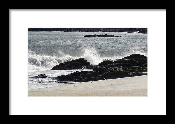 Waves Framed Print featuring the photograph Turbulent Waves by Jessica Cruz