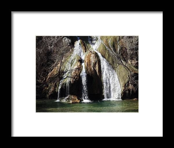 Waterfalls Framed Print featuring the photograph Turner Falls by Shannon Bever
