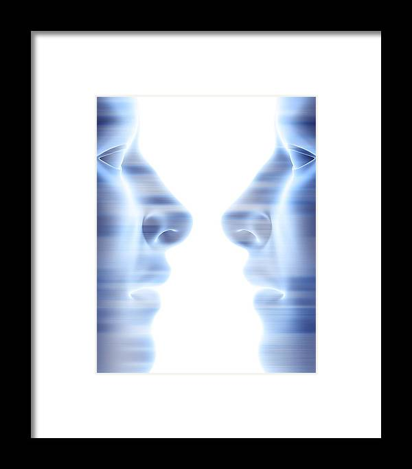 Face Framed Print featuring the photograph Two Faces by Pasieka