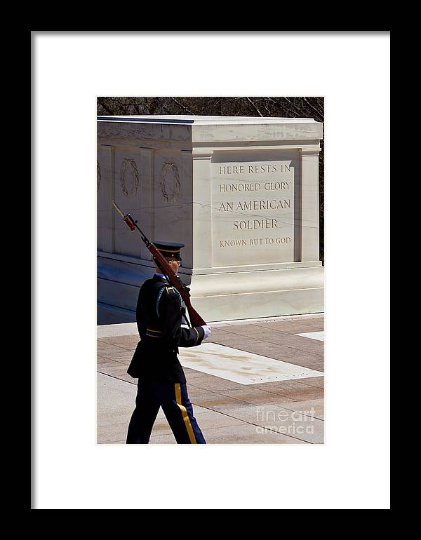 Tomb Of The Unknown Soldier Framed Print featuring the photograph Unknown Soldier by Brian Jannsen