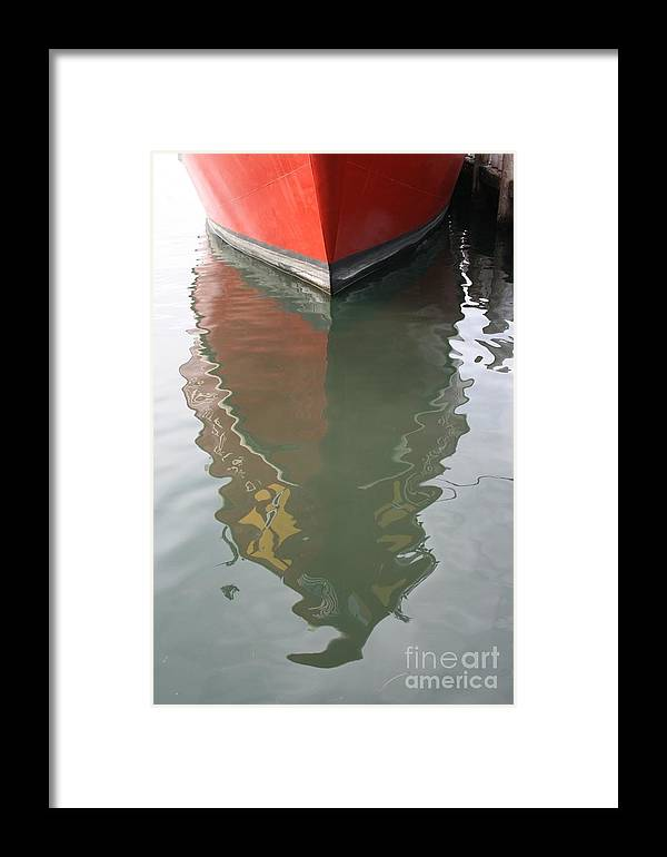 Red Framed Print featuring the photograph Untitled by Kerryn Davis
