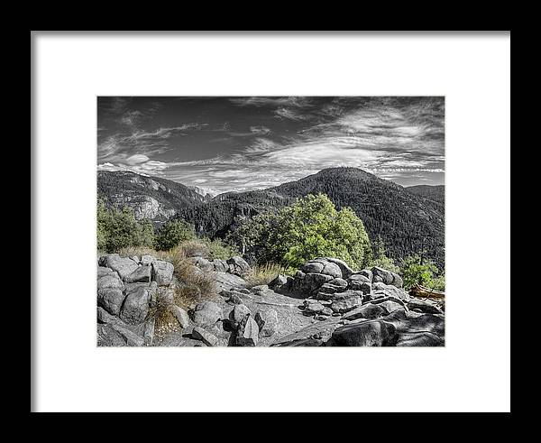 Landscape Framed Print featuring the photograph Upper View by Stephen Campbell