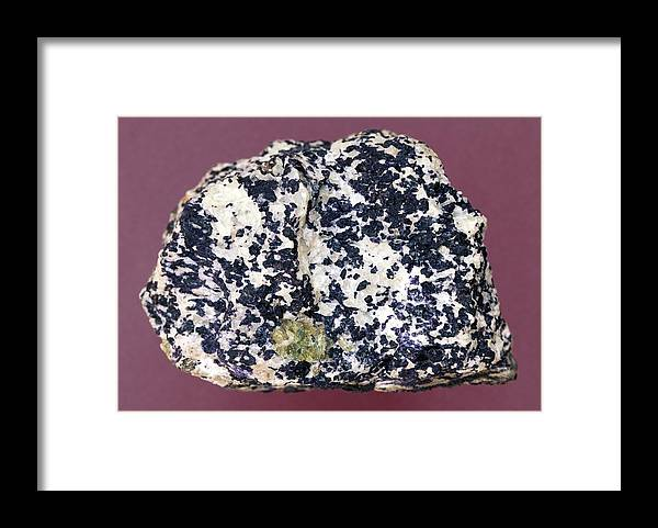 Still Life Framed Print featuring the photograph Uraninite In Calcite by Dirk Wiersma