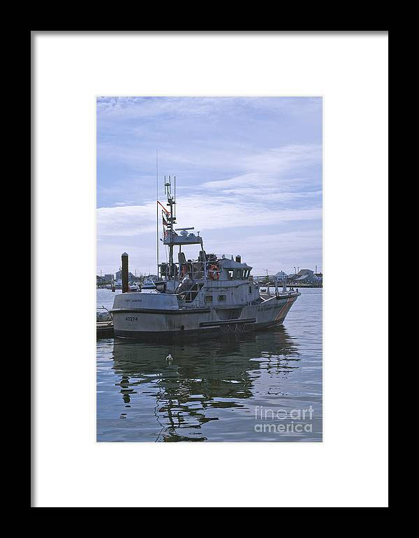 Uscg Framed Print featuring the photograph Uscg 47' Lifeboat - 1 by Tim Mulina