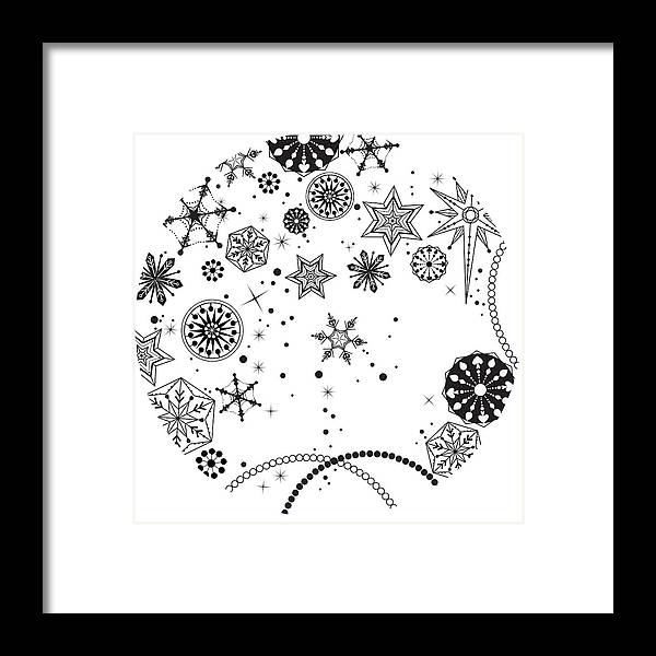 Square Framed Print featuring the digital art Various Plants Patterns by Eastnine Inc.