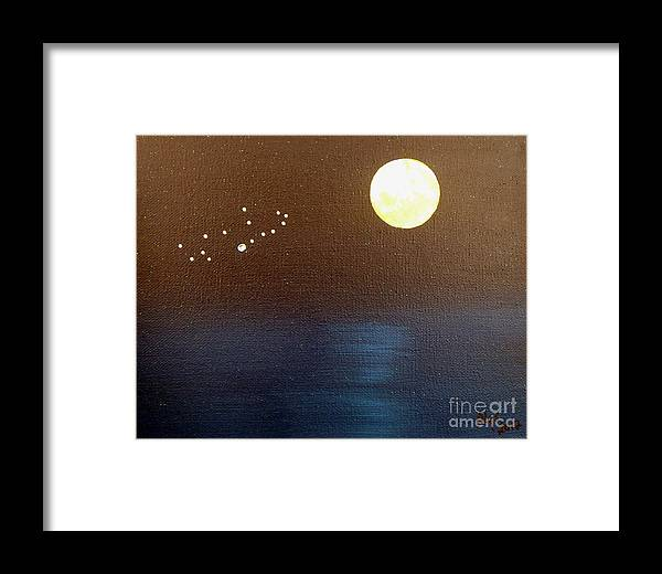 Virgo Framed Print featuring the painting Virgo by Alys Caviness-Gober