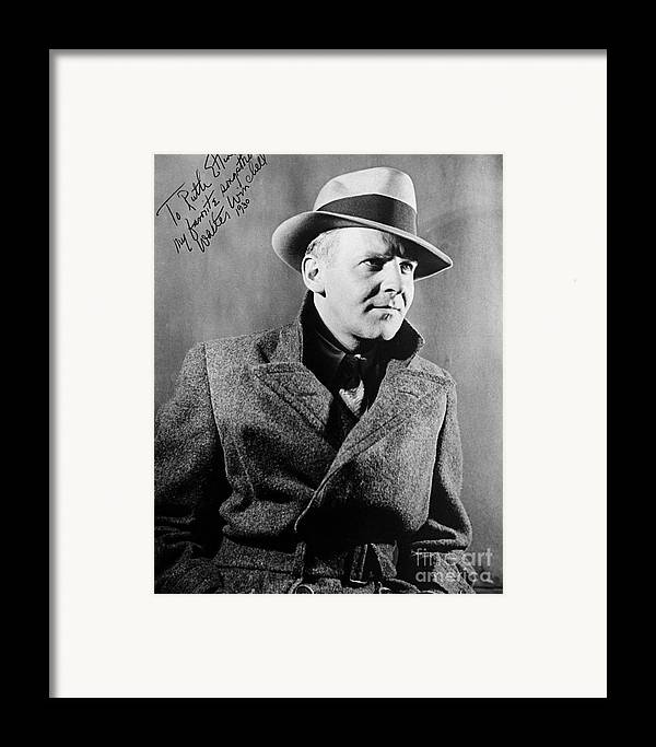 1940 Framed Print featuring the photograph Walter Winchell (1897-1972) by Granger