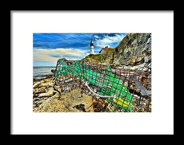 Portland Lighthouse Framed Print featuring the photograph Washed Up by Adam Jewell
