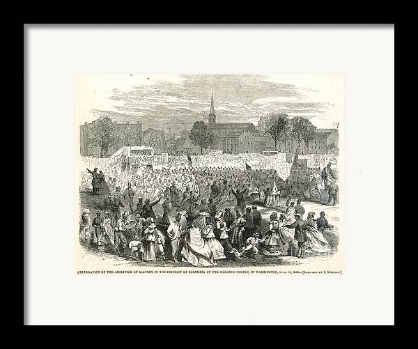 1866 Framed Print featuring the photograph Washington: Abolition, 1866 by Granger
