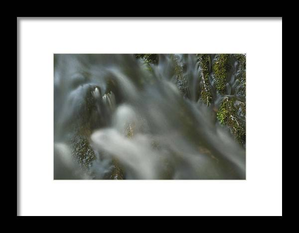 Water Movement Framed Print featuring the photograph Water Movement Detail 15 by Stephen Vecchiotti