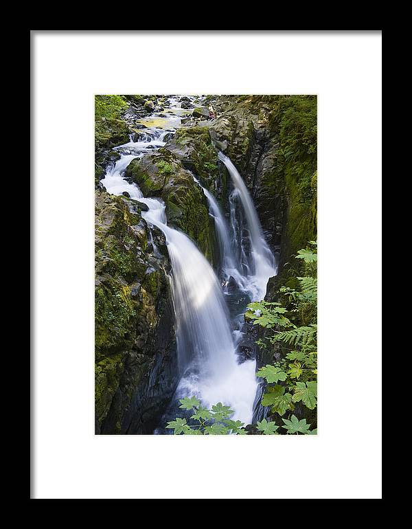 Mp Framed Print featuring the photograph Waterfalls Of Sol Duc River, Olympic by Konrad Wothe