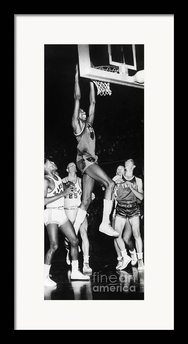 1956 Framed Print featuring the photograph Wilt Chamberlain (1936-1999) by Granger
