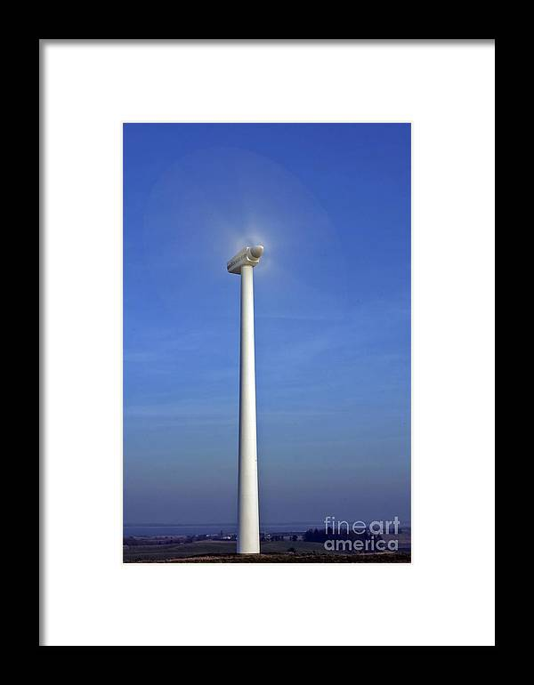 Energy Framed Print featuring the photograph Windturbine by Jorgen Norgaard
