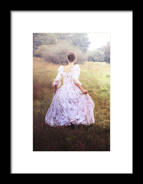 Female Framed Print featuring the photograph Woman In A Meadow by Joana Kruse