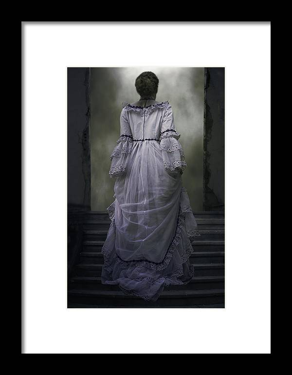 Woman Framed Print featuring the photograph Woman On Steps by Joana Kruse