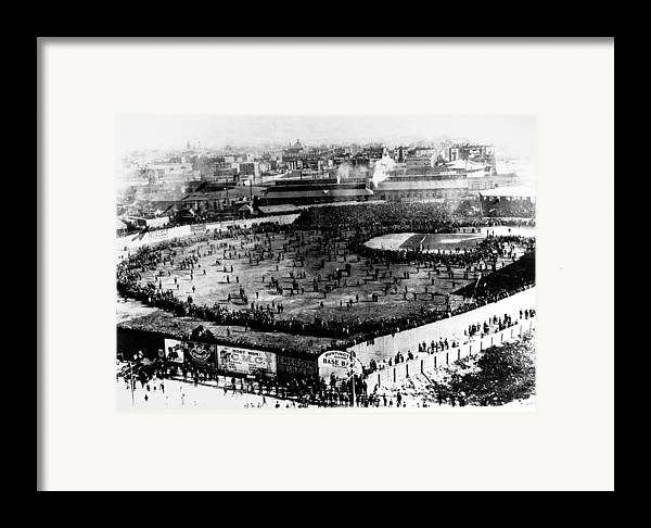 1903 Framed Print featuring the photograph World Series, 1903 by Granger
