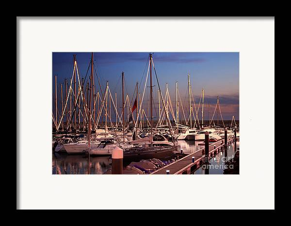 Anchor Framed Print featuring the photograph Yacht Marina by Carlos Caetano