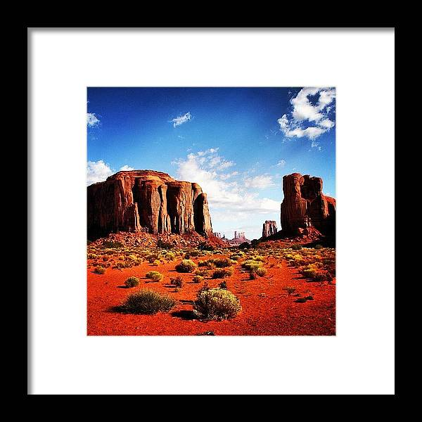 Beautiful Framed Print featuring the photograph Monument Valley by Luisa Azzolini