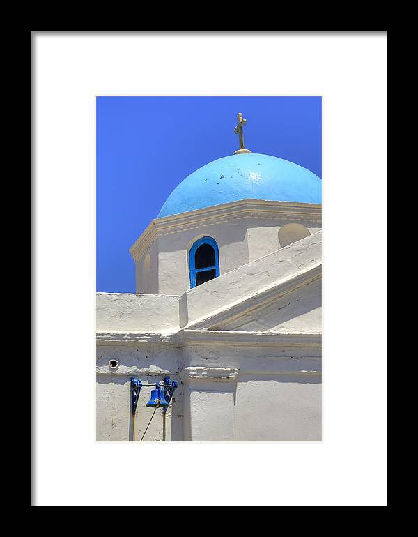 Agios Nikolaos Tis Kadenas Framed Print featuring the photograph Mykonos by Joana Kruse