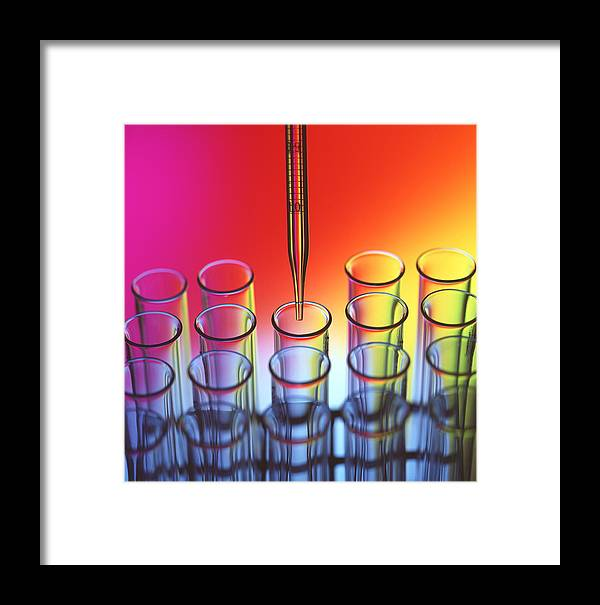 Laboratory Glassware Framed Print featuring the photograph Laboratory Glassware by Tek Image