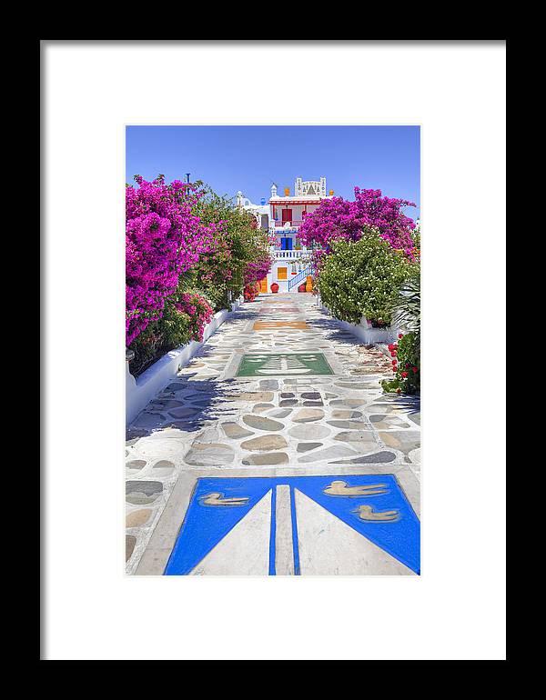 House Framed Print featuring the photograph Mykonos by Joana Kruse