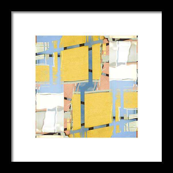 Urban Framed Print featuring the photograph Urban Abstract San Diego by Carol Leigh