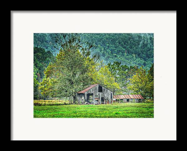 Barn Framed Print featuring the photograph 1209-1298 - Boxley Valley Barn 2 by Randy Forrester