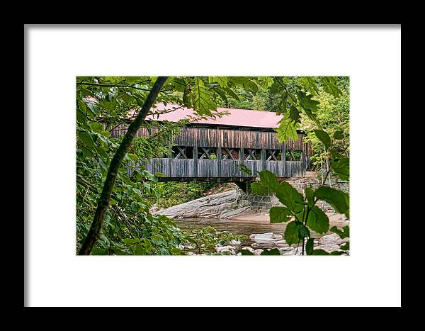 Albany Covered Bridge Framed Print featuring the photograph 12690 Albany Covered Bridge by John Prichard