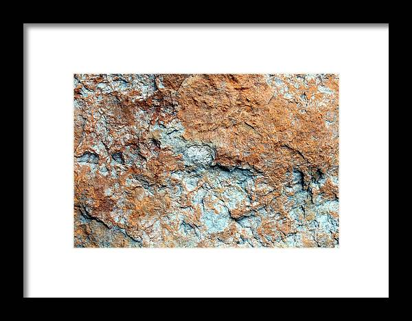 Nature Framed Print featuring the photograph Natures Rock Art by Jack R Brock