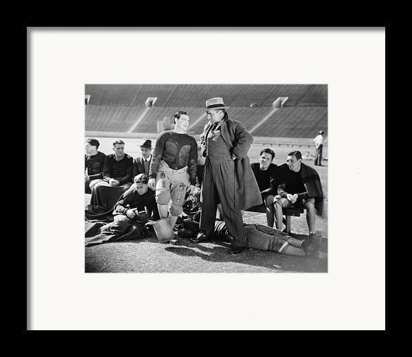 -sports- Framed Print featuring the photograph Silent Film Still: Sports by Granger