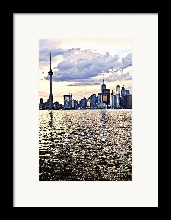Toronto Framed Print featuring the photograph Toronto Skyline by Elena Elisseeva