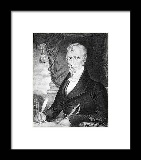 1841 Framed Print featuring the photograph William Henry Harrison by Granger