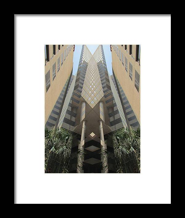 Digital Framed Print featuring the digital art Building by Michele Caporaso