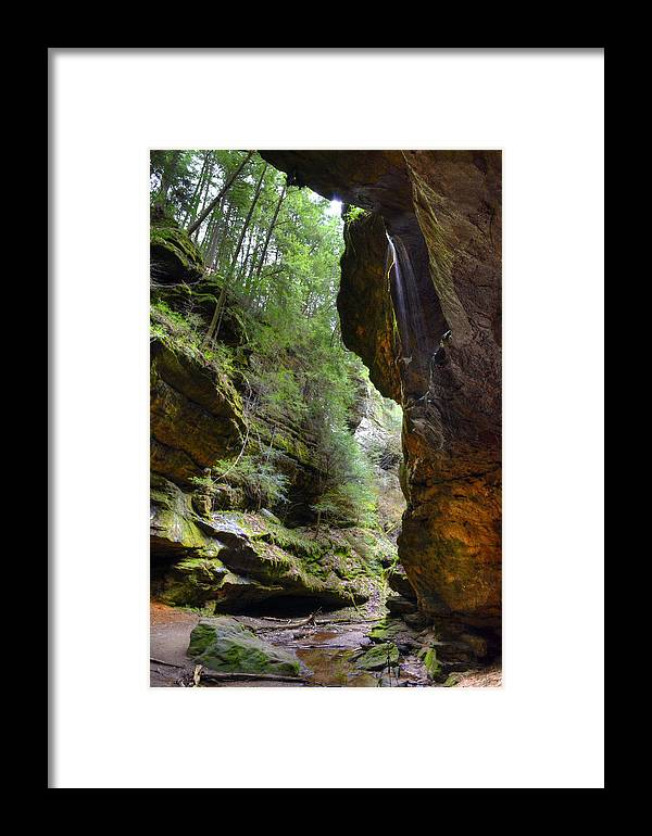 Framed Print featuring the photograph Conkle's Hollow by Brian Stevens