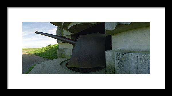 Longues Gatery Framed Print featuring the photograph 15cm German Naval Gun by Jan W Faul