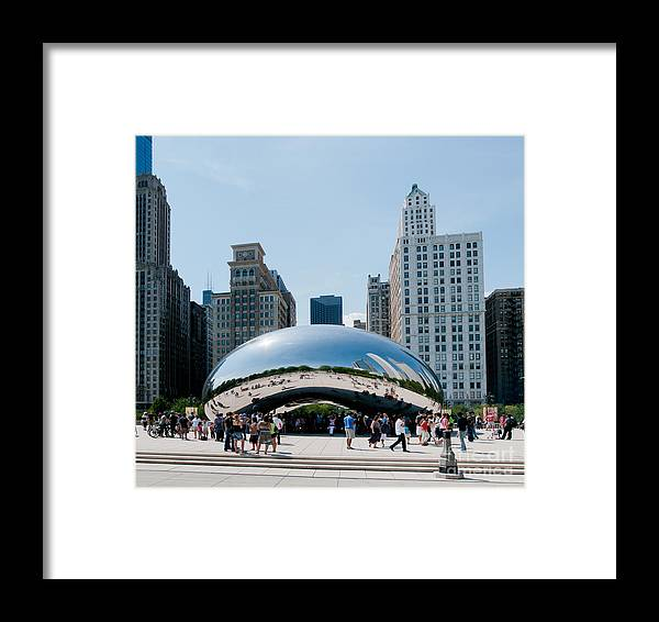 Artistic Sculpture Framed Print featuring the digital art Chicago City Scenes by Carol Ailles