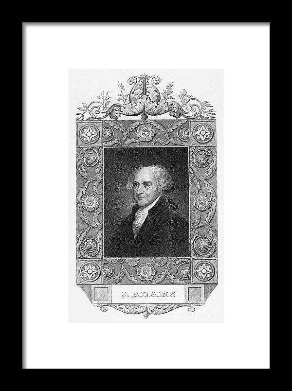 18th Century Framed Print featuring the photograph John Adams (1735-1826) by Granger