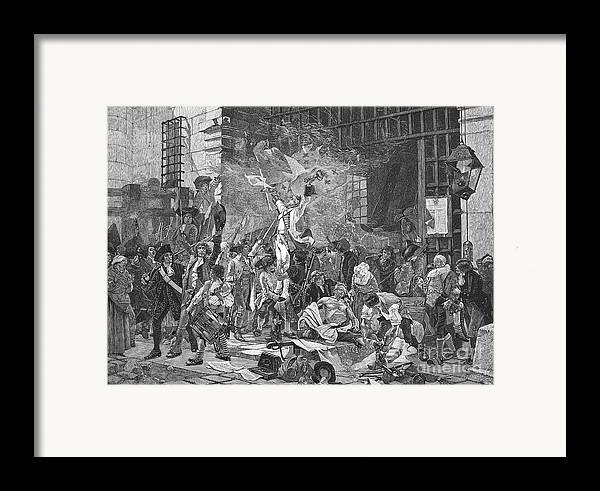 1789 Framed Print featuring the photograph French Revolution, 1789 by Granger
