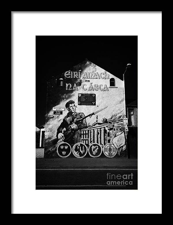 Belfast Framed Print featuring the photograph 1916 Mural Belfast by Joe Fox