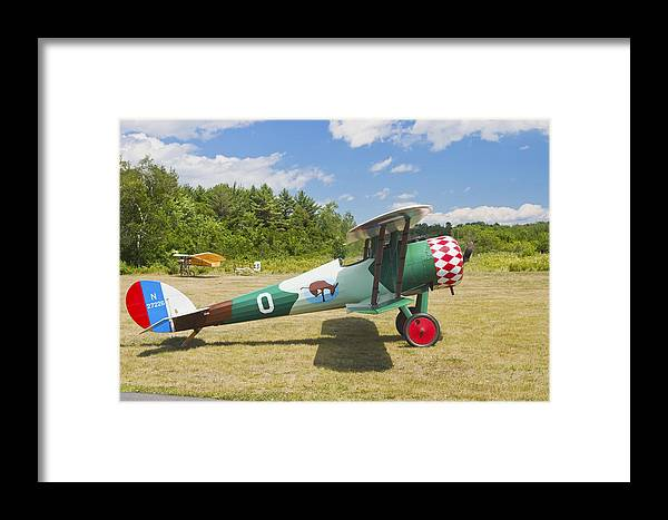 1917 Framed Print featuring the photograph 1917 Nieuport 28c.1 Antique Fighter Biplane Canvas Photo Poster Print by Keith Webber Jr