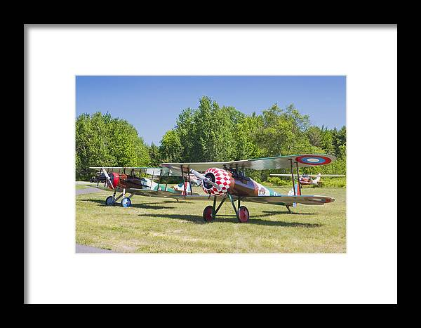 1917 Nieuport 28c.1 Framed Print featuring the photograph 1917 Nieuport 28c.1 World War One Antique Fighter Biplane Canvas Poster Print by Keith Webber Jr