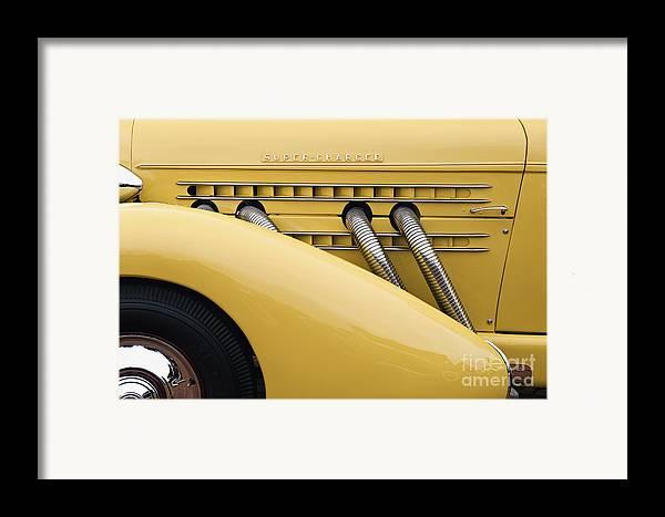 Tire Framed Print featuring the photograph 1935 Auburn 851 Sc Speedster Detail - D008160 by Daniel Dempster