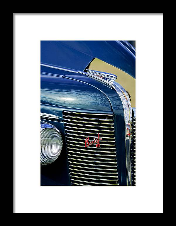 1937 Buick Framed Print featuring the photograph 1937 Buick Hood Ornament by Jill Reger