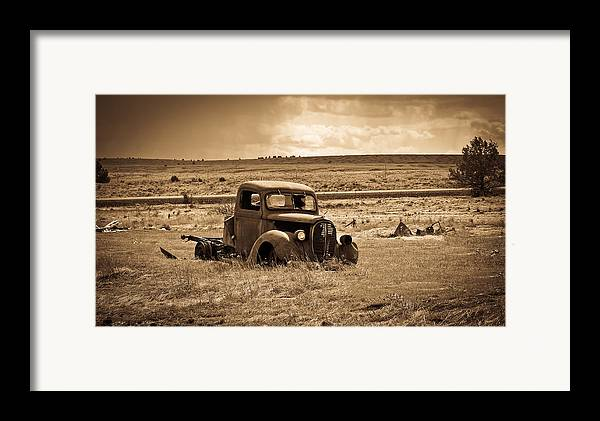 Ford Truck Framed Print featuring the photograph 1938 Ford Pickup by Steve McKinzie