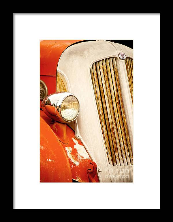Fine Art Framed Print featuring the photograph 1940's Seagrave Fire Engine by Donna Greene
