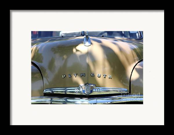 Transportation Framed Print featuring the photograph 1949 Plymouth Delux Sedan . 5d16206 by Wingsdomain Art and Photography