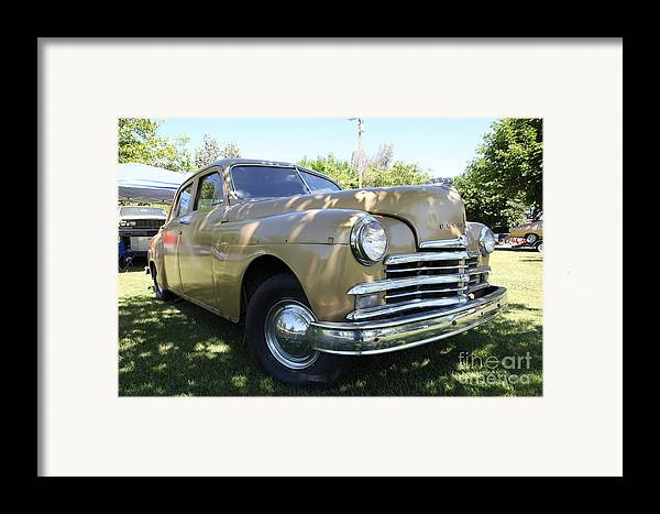 Transportation Framed Print featuring the photograph 1949 Plymouth Delux Sedan . 5d16207 by Wingsdomain Art and Photography