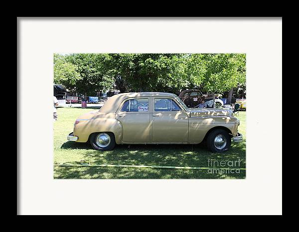 Transportation Framed Print featuring the photograph 1949 Plymouth Delux Sedan . 5d16208 by Wingsdomain Art and Photography