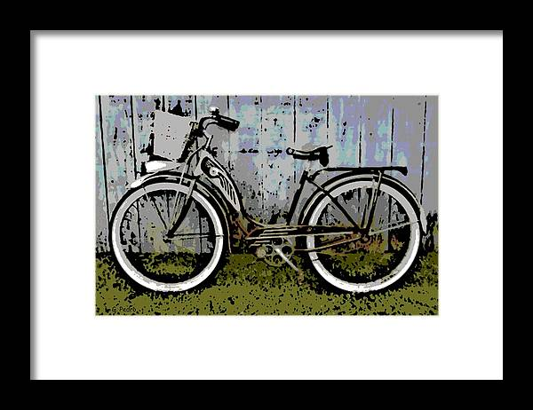 1953 Framed Print featuring the photograph 1953 Schwinn Bicycle by George Pedro