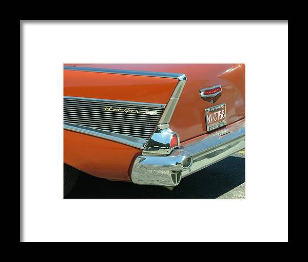 Car Framed Print featuring the photograph 1957 Chevy Belair by Dennis Pintoski